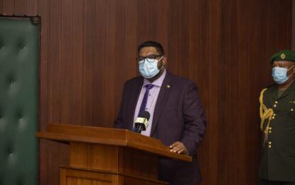 "First day in Office: President Irfaan Ali urges ""team work""."