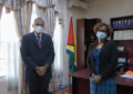 Minister Anthony receives courtesy call from FAO and British High Commissioner
